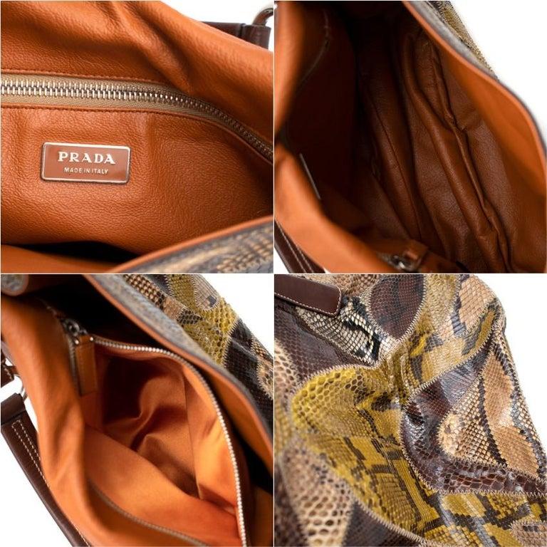 Prada Python Patchwork Shoulder Bag For Sale 4