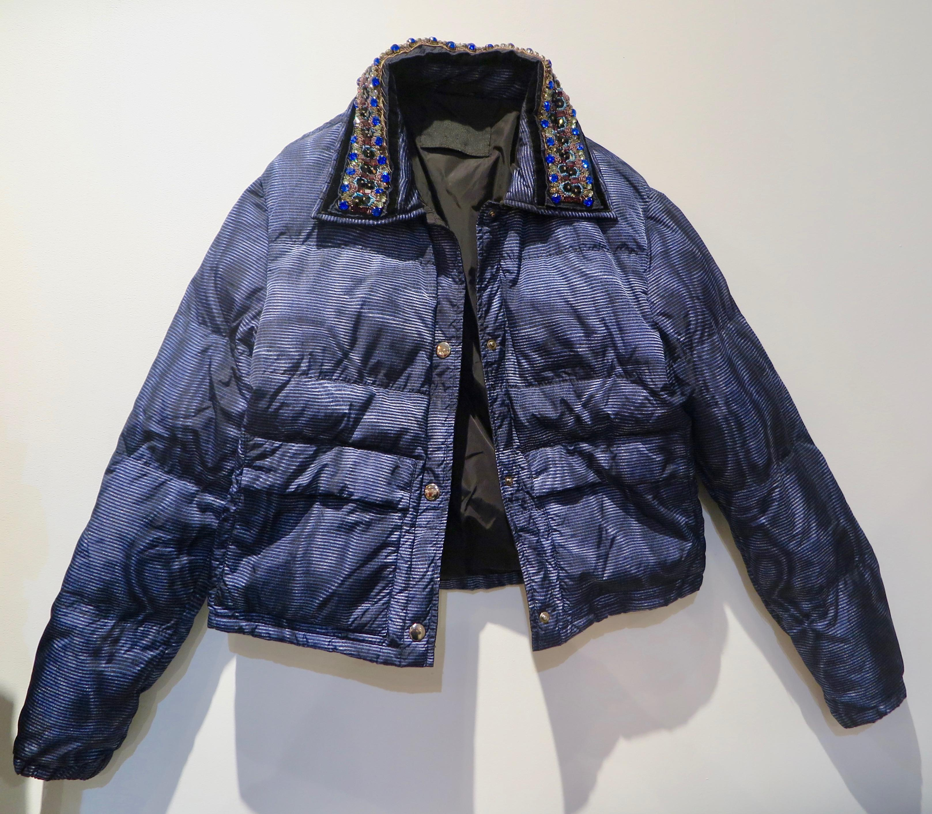 dc2cdde6ff Prada Quilted Bomber Jacket with Embroidery