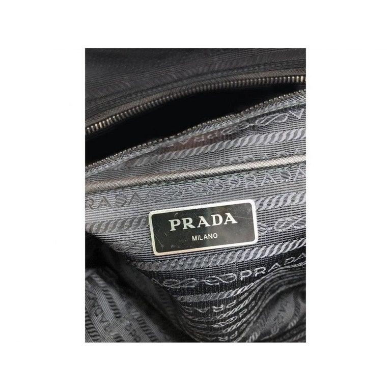 PRADA Quilted Nylon Tessuto Impuntu Bag - Black Nylon In Good Condition For Sale In London, GB