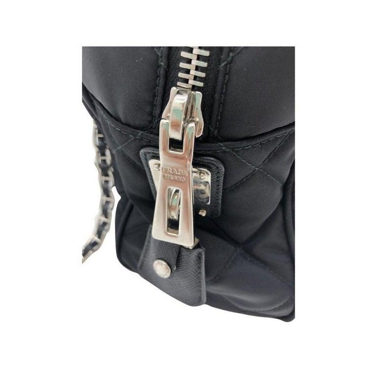 PRADA Quilted Nylon Tessuto Impuntu Bag - Black Nylon For Sale 2