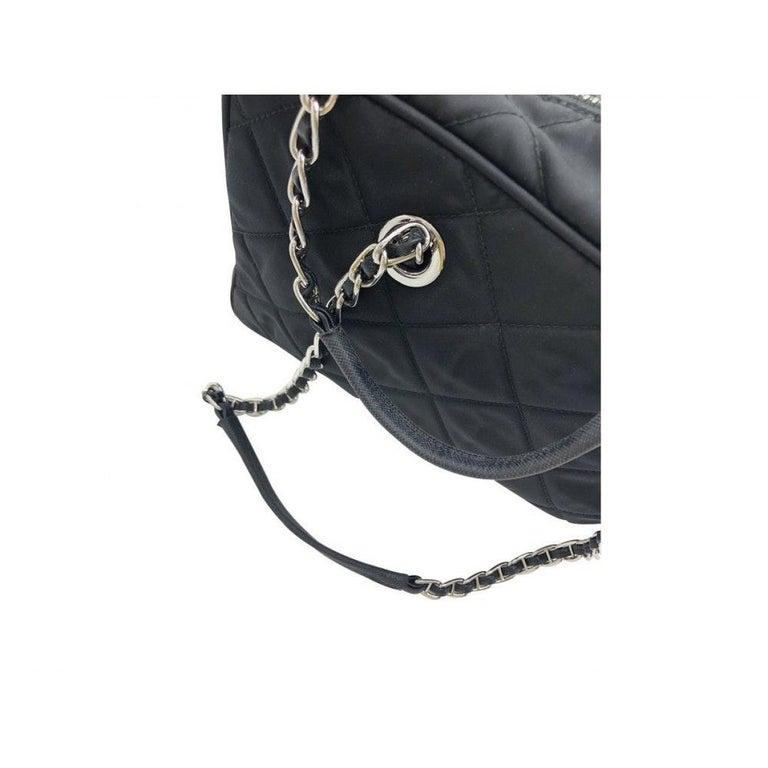 PRADA Quilted Nylon Tessuto Impuntu Bag - Black Nylon For Sale 5