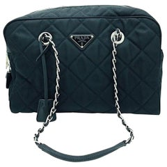 PRADA Quilted Nylon Tessuto Impuntu Bag - Black Nylon