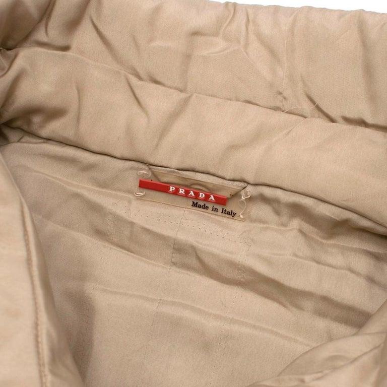 Women's Prada Quilted Silk Midi-Length Coat  XS 40  For Sale