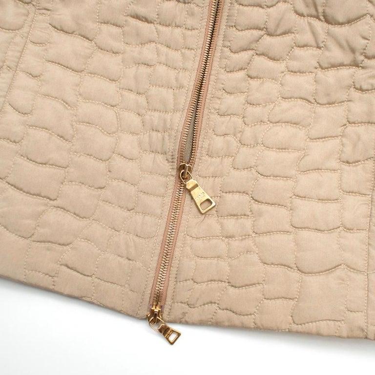 Prada Quilted Silk Midi-Length Coat  XS 40  For Sale 1