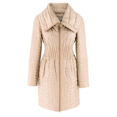 Prada Quilted Silk Midi-Length Coat  XS 40