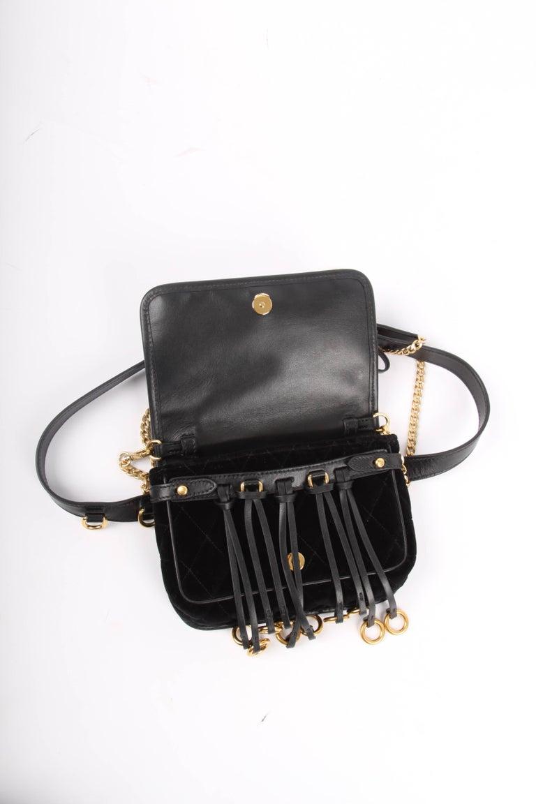 c2623085ac442 Prada Quilted Velvet Belt Bag   Crossbody Chain - black at 1stdibs