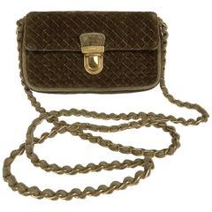 Prada Quilted Velvet Cross Body Flap Cross Body Chain Handbag GH