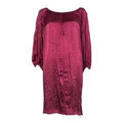 PRADA raspberry pink cuprous BISHOP SLEEVE Cocktail Dress 44