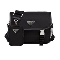 Prada Re-Nylon Saffiano Leather Shoulder Bag