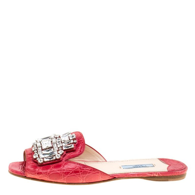 d32f274b4b4b9 These red slides from Prada are perfect to adorn your feet. The slides are  crafted
