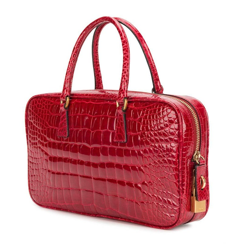 fa66fb7d880 Prada Red Crocodile Leather Vintage Bag, 2000s