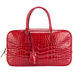 Prada Red Crocodile Leather Vintage Bag, 2000s