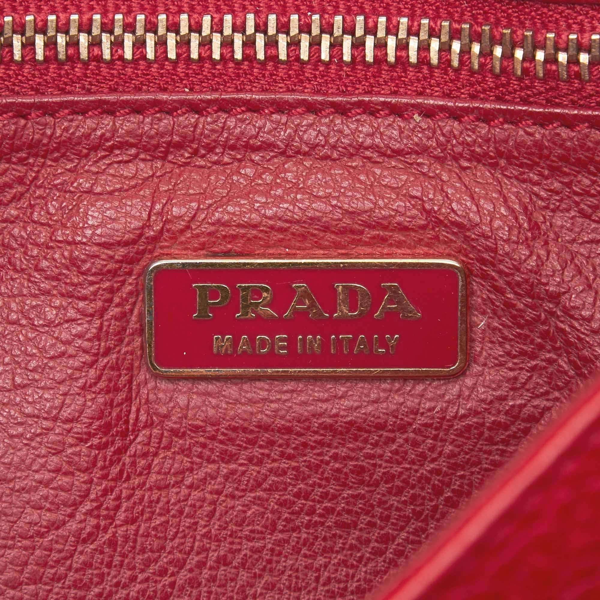 2813069cb711 Prada Red Leather Chain Baguette at 1stdibs