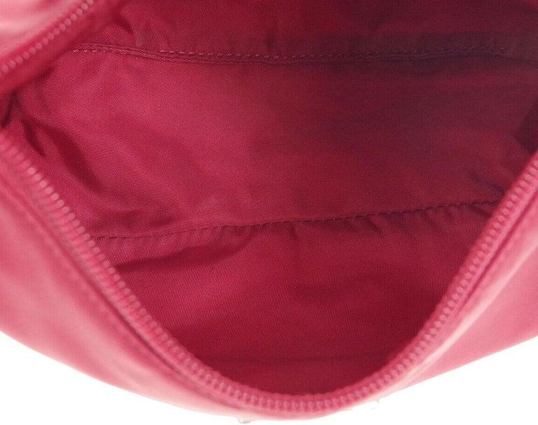 Prada Red Nylon Pochette Evening Top Handle Satchel Shoulder Bag For Sale 1