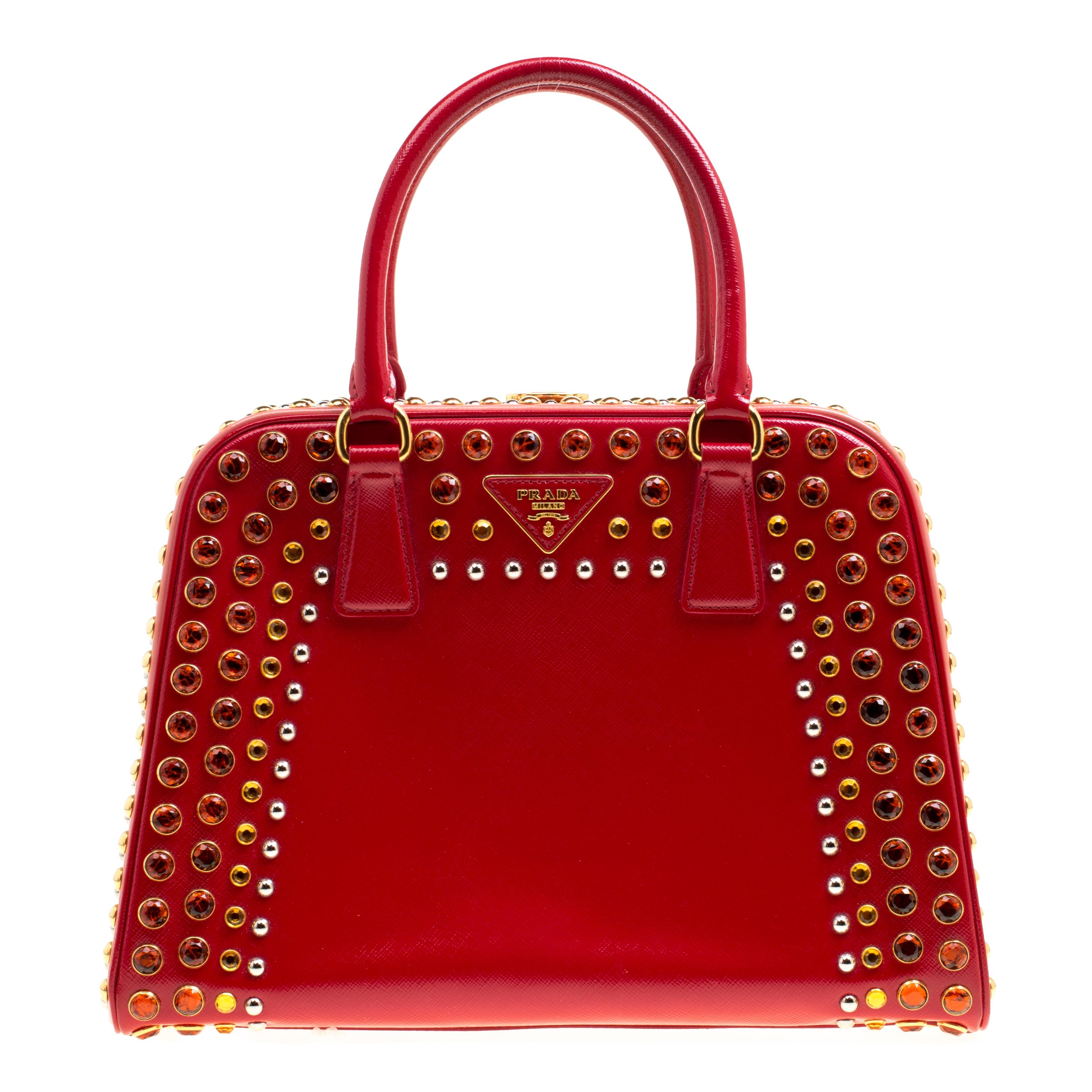 8370222b76c4 Prada Red Leather Handbag For Sale at 1stdibs