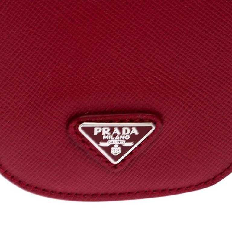 Prada Red Saffiano Leather iPhone Case For Sale 3