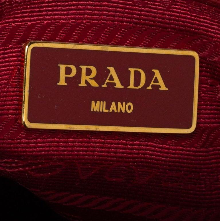 Prada Red Saffiano Lux Leather Mini Galleria Tote For Sale 4