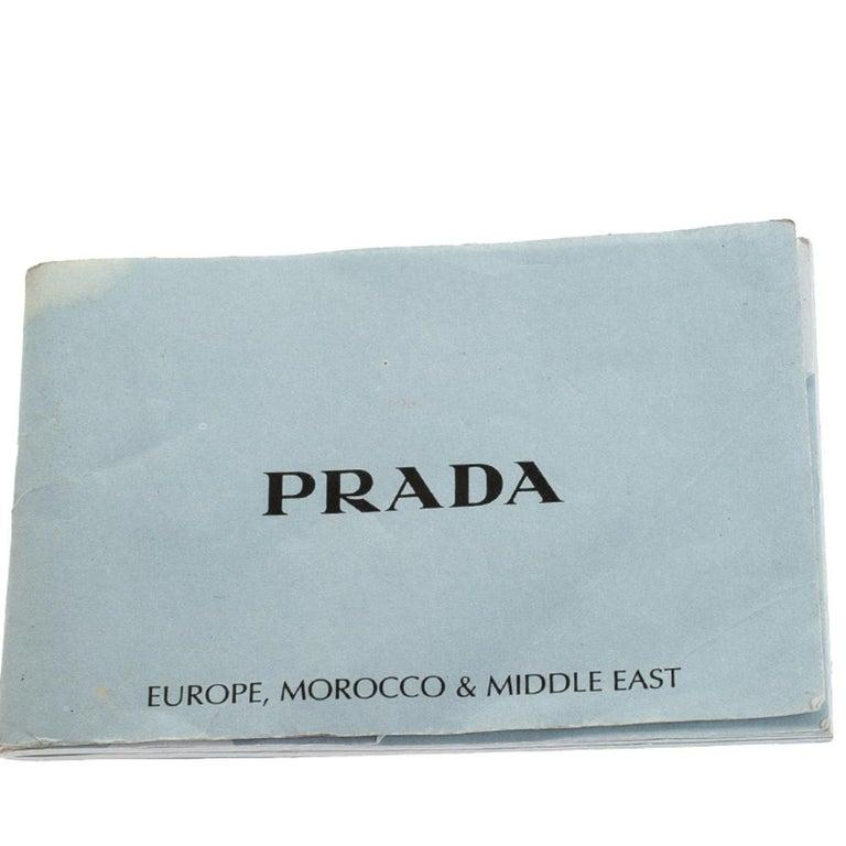 Prada Red Saffiano Lux Leather Parabole Tote Bag For Sale 4