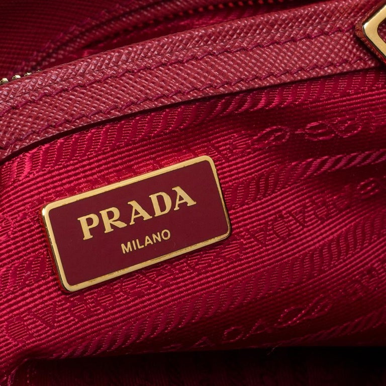 Prada Red Saffiano Lux Leather Small Galleria Double Zip Tote 6