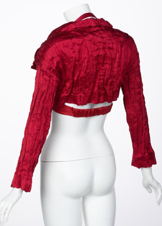 Prada Red Silk  Bolero Bra Top, 2009 In Excellent Condition For Sale In Boca Raton, FL