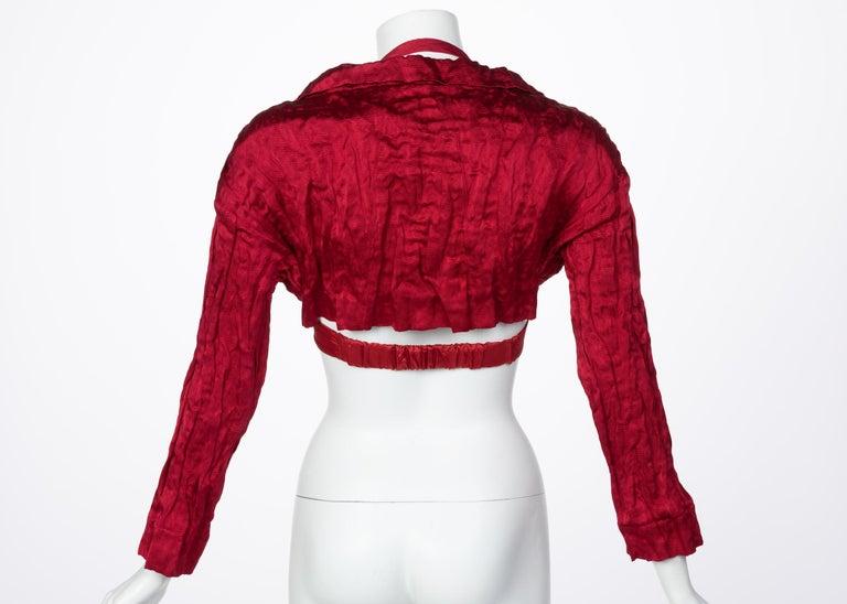 Women's Prada Red Silk  Bolero Bra Top, 2009 For Sale
