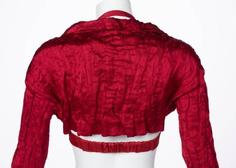 Prada Red Silk  Bolero Bra Top, 2009 For Sale 3