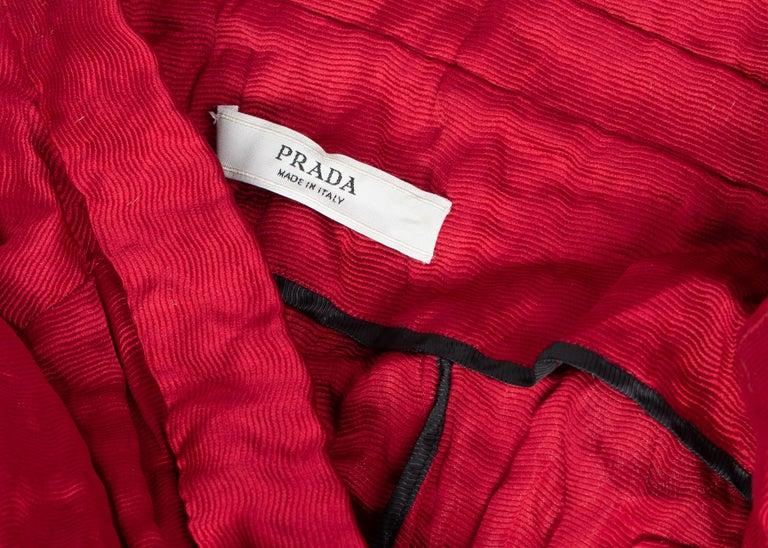 Prada Red Silk  Bolero Bra Top, 2009 For Sale 4
