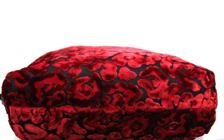 Prada Red Suede Shopper Bag 1