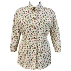 Prada Resort 2020 Floral Print Silk Jacket