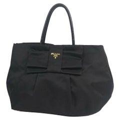 PRADA ribbon Womens handbag BN1601 Nero( black)