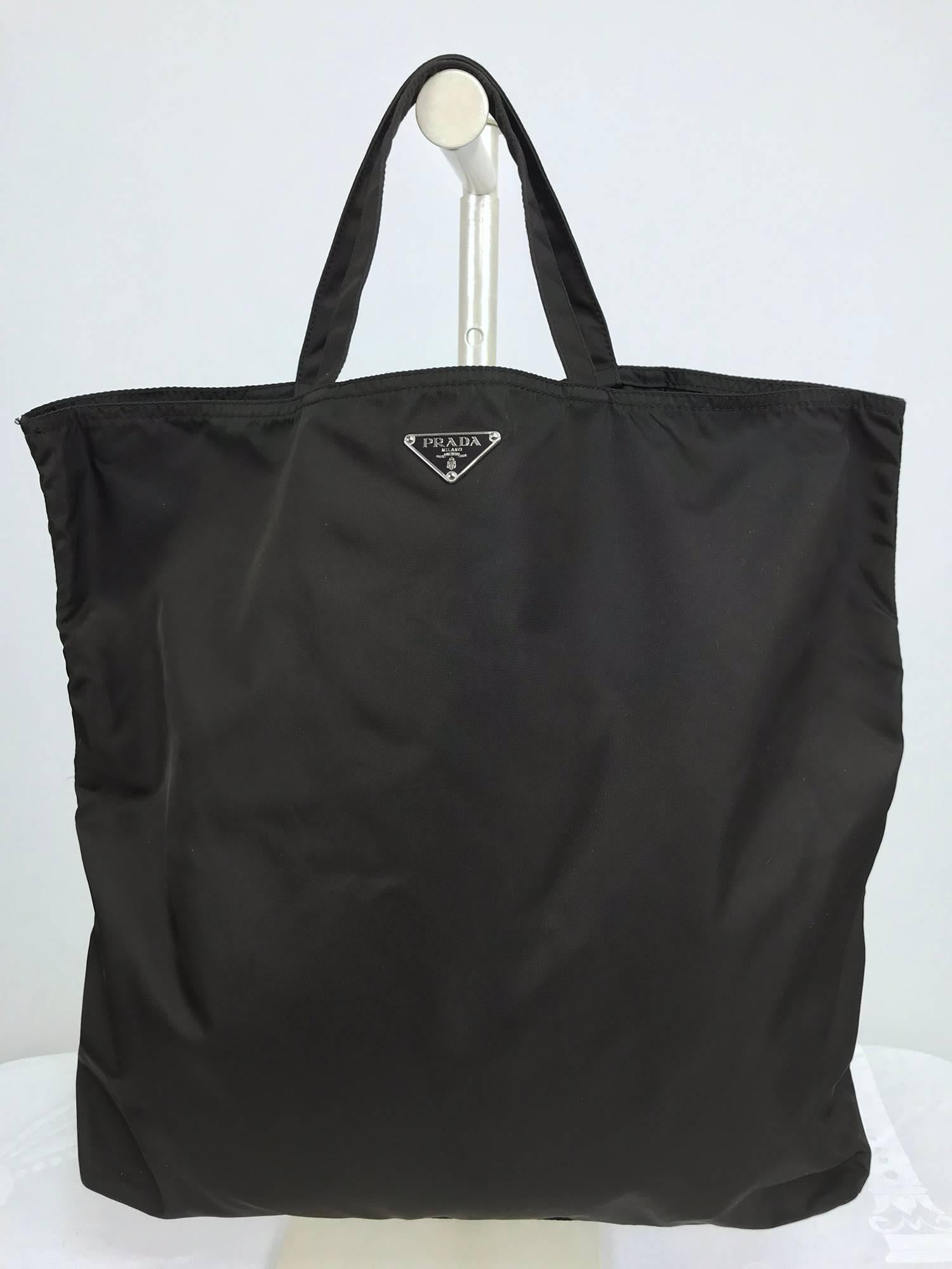 893ad6204ca1 Prada robot applique nylon tote bag at 1stdibs