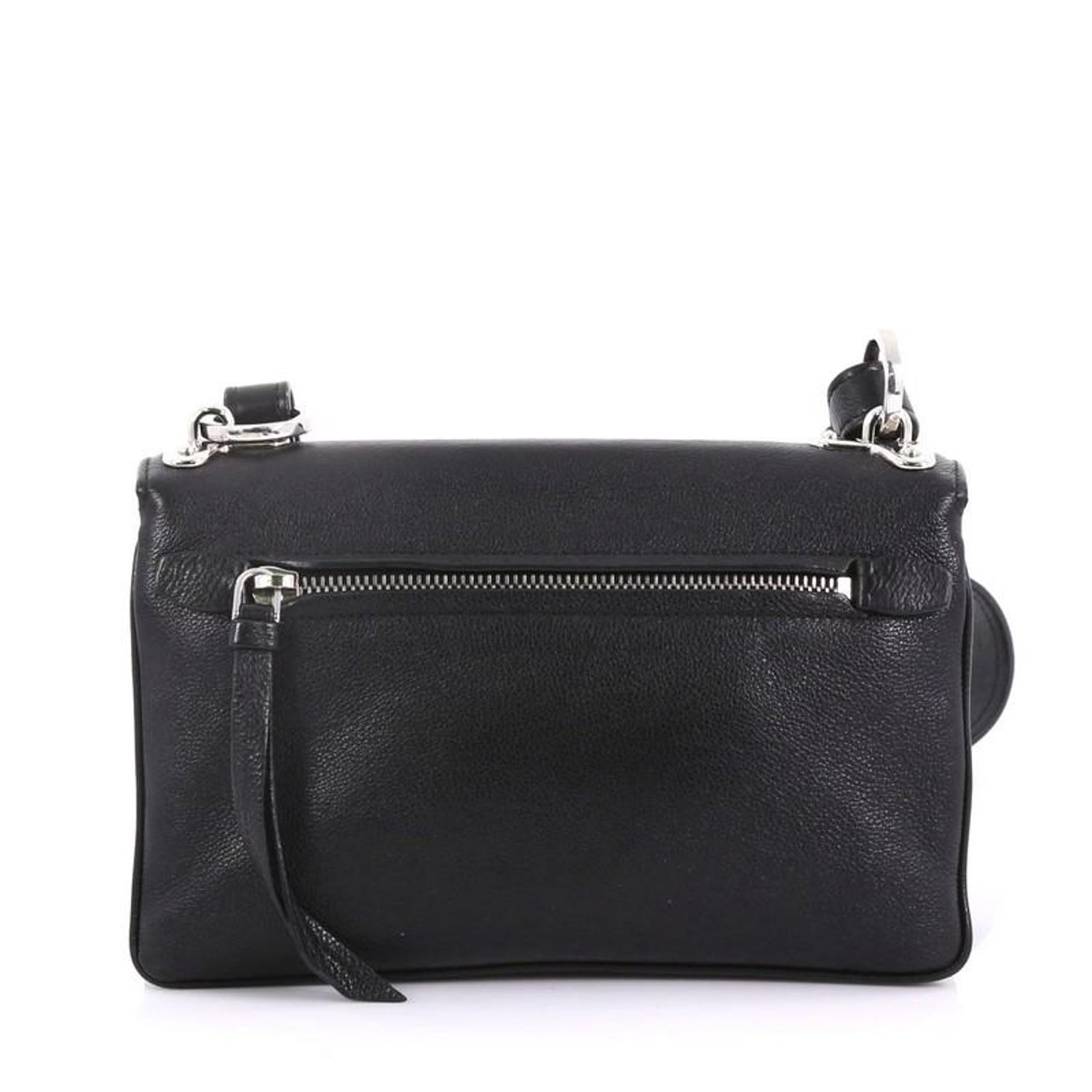 bb20ac6a6d4 Prada Robot Flap Shoulder Bag Mixed Media Leather Small For Sale at 1stdibs