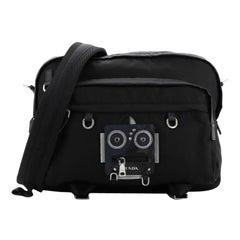 Prada Robot Messenger Bag Tessuto Medium