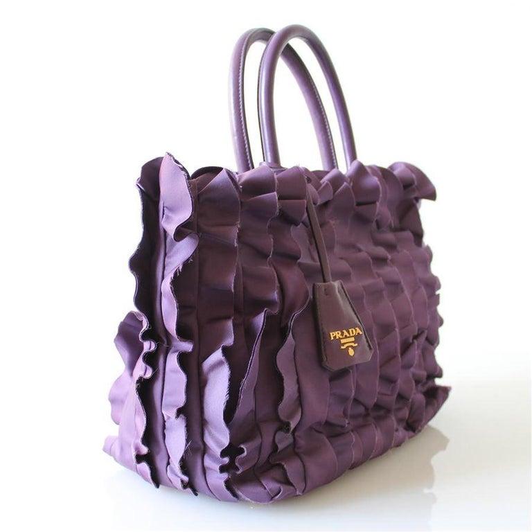 Black Prada Rouches Bag For Sale