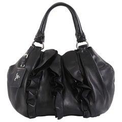 Prada Ruffle Shoulder Bag Nappa Leather Medium