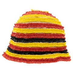 Prada Runway Bead Embroidered Cloche Hat, Spring 2005