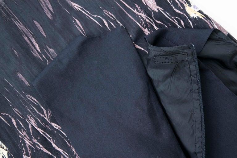 Prada Runway Black Sleeveless Cotton Silk Printed Sheath Dress, Spring 1998 7
