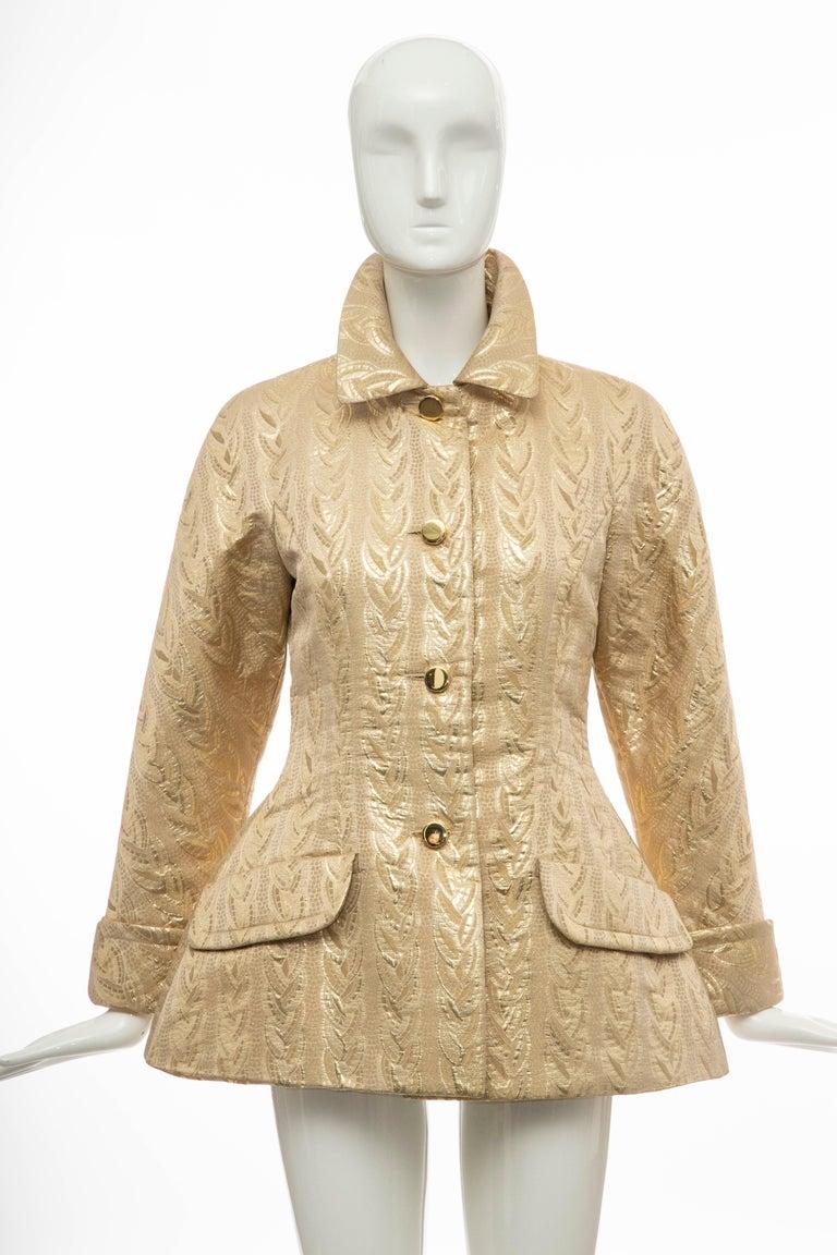 Prada Runway Gold Brocade Evening Jacket, Fall 1992 In Excellent Condition For Sale In Cincinnati, OH