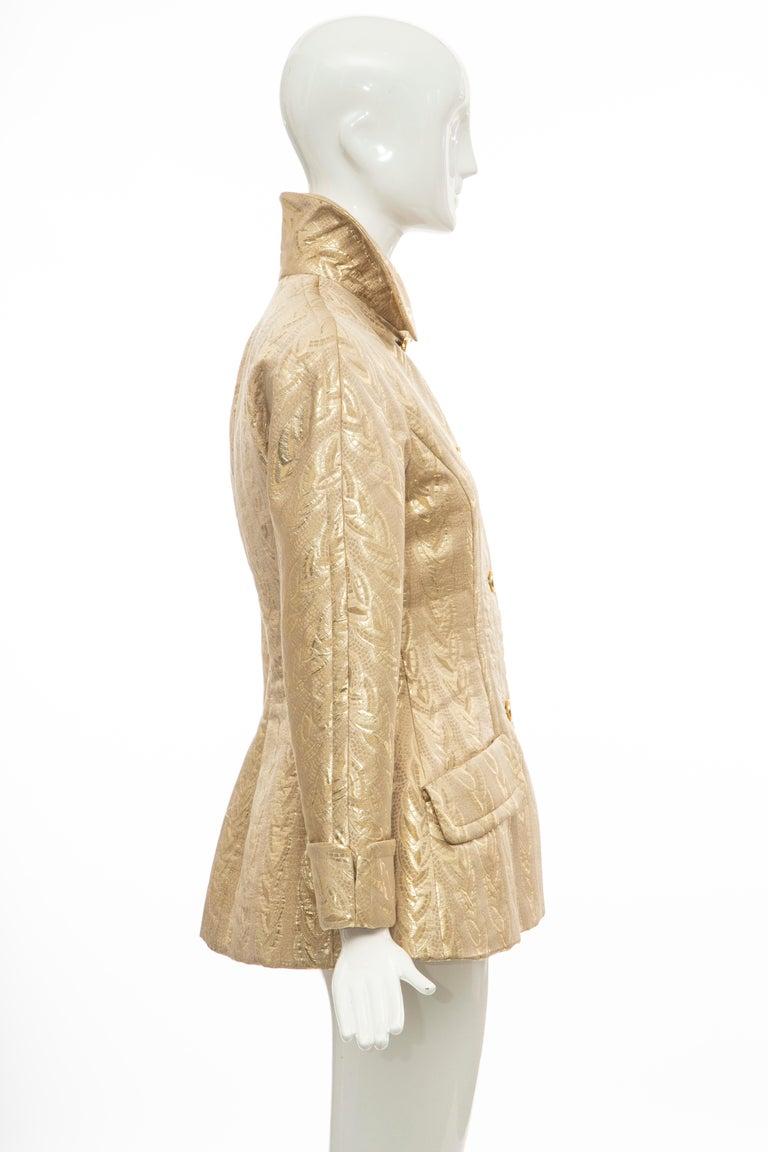 Prada Runway Gold Brocade Evening Jacket, Fall 1992 For Sale 1