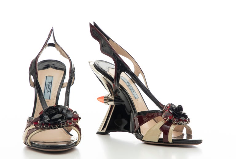 Prada Runway Jewel Taillight Wedge Sandal, Spring 2012 For Sale 13