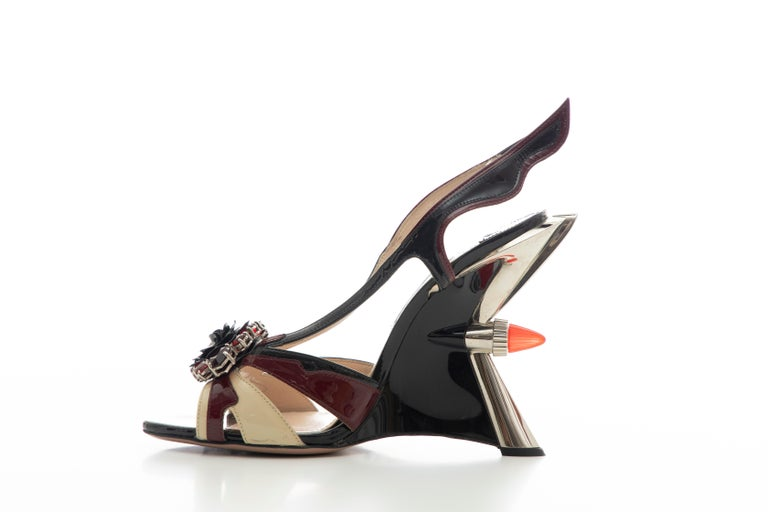 Prada Runway Jewel Taillight Wedge Sandal, Spring 2012 For Sale 3