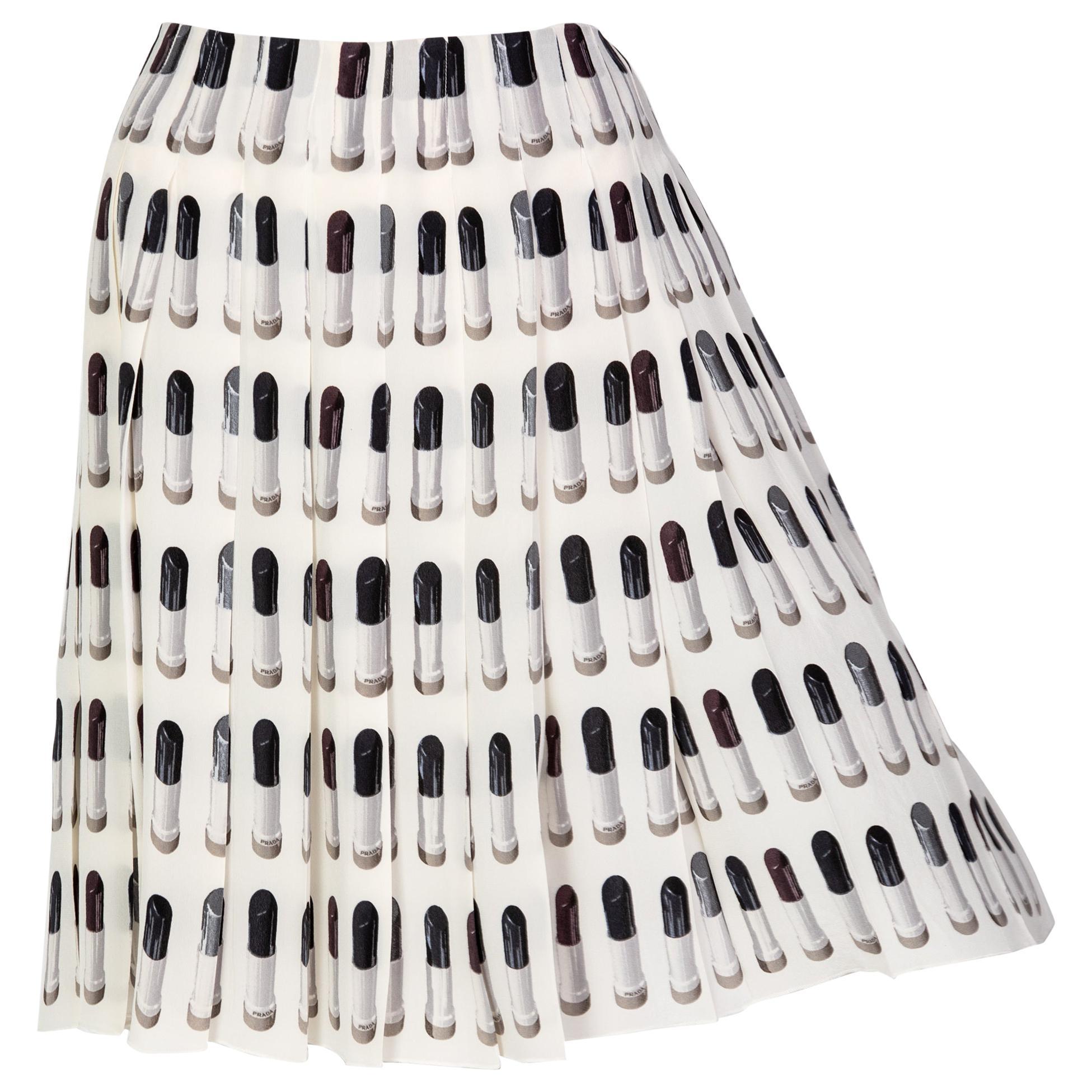 Prada Runway Lipstick Print Skirt Rare & Collectable Spring 2000