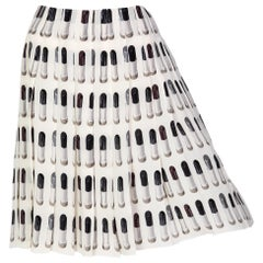 Prada Runway Lipstick Print Skirt Rare & Collectable Spring 2000