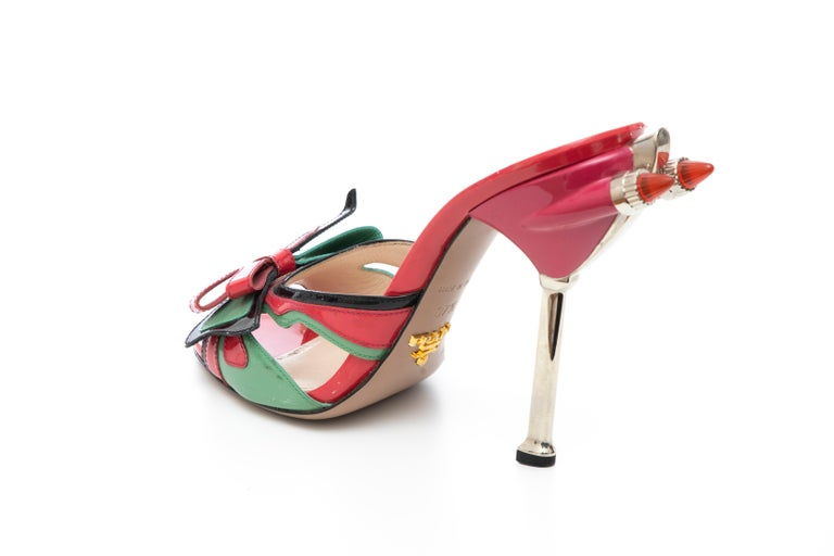 Prada Runway Patent Leather Tail Light Sandal, Spring 2012 For Sale 6