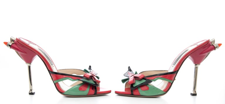 Prada Runway Patent Leather Tail Light Sandal, Spring 2012 For Sale 8