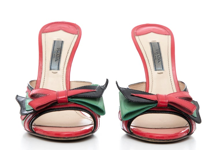 Prada Runway Patent Leather Tail Light Sandal, Spring 2012 For Sale 9
