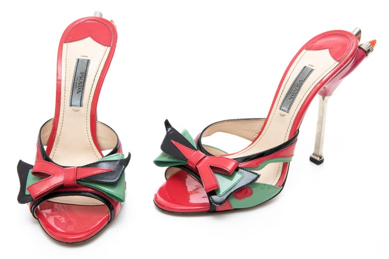 Prada Runway Patent Leather Tail Light Sandal, Spring 2012 For Sale 13