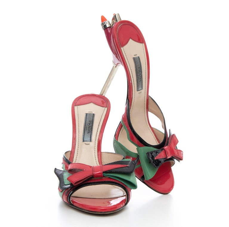 Prada Runway Patent Leather Tail Light Sandal, Spring 2012 For Sale 14