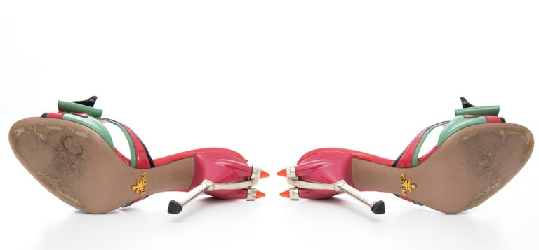 Prada Runway Patent Leather Tail Light Sandal, Spring 2012 For Sale 15