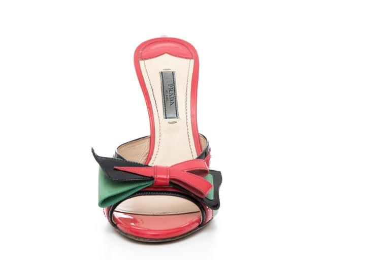 Women's Prada Runway Patent Leather Tail Light Sandal, Spring 2012 For Sale